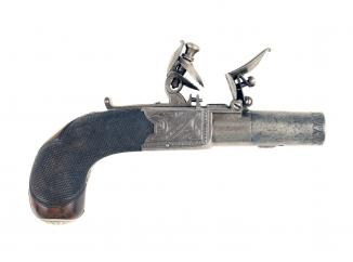 A Crisp Pair of Flintlock Pocket Pistols