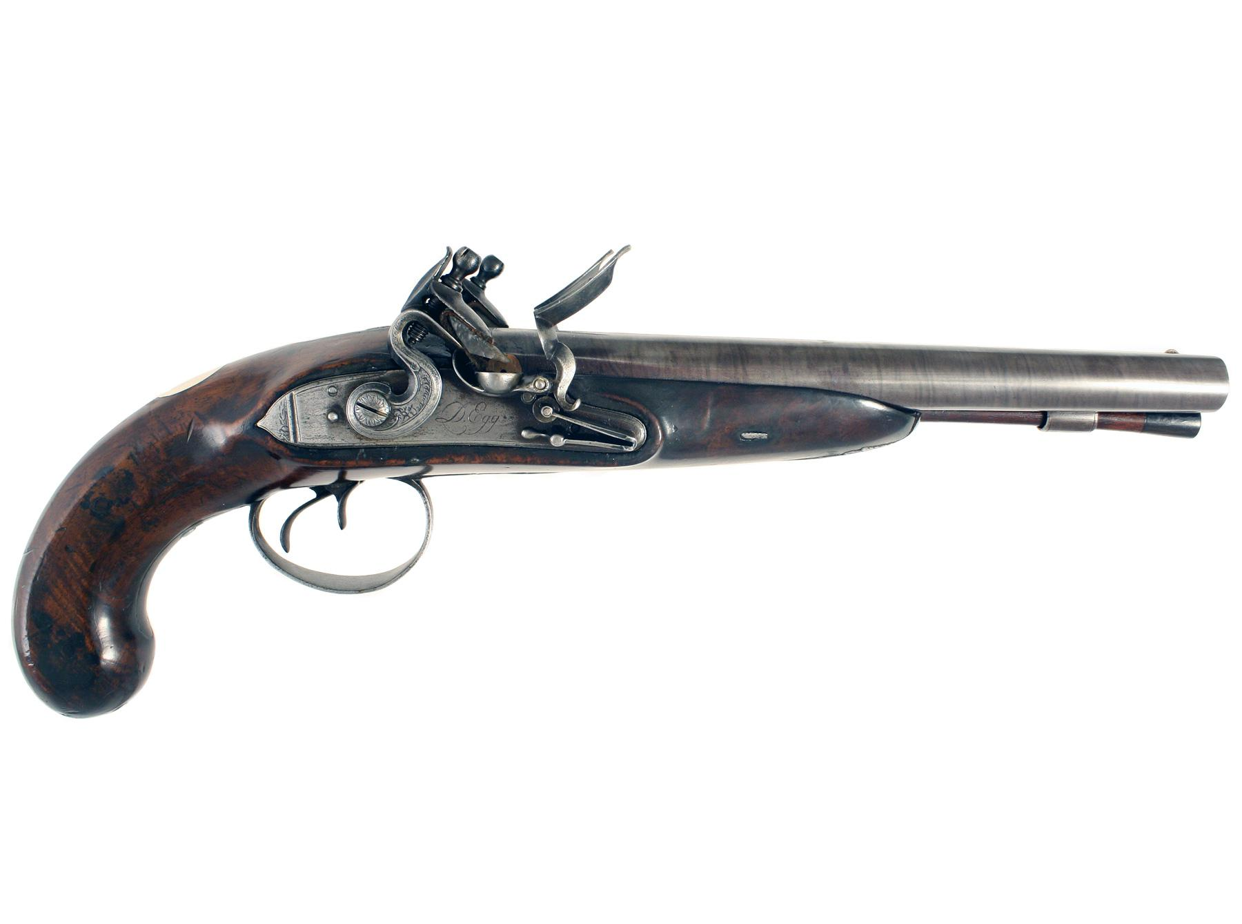 A Double Barrelled Carriage Pistol by D.Egg