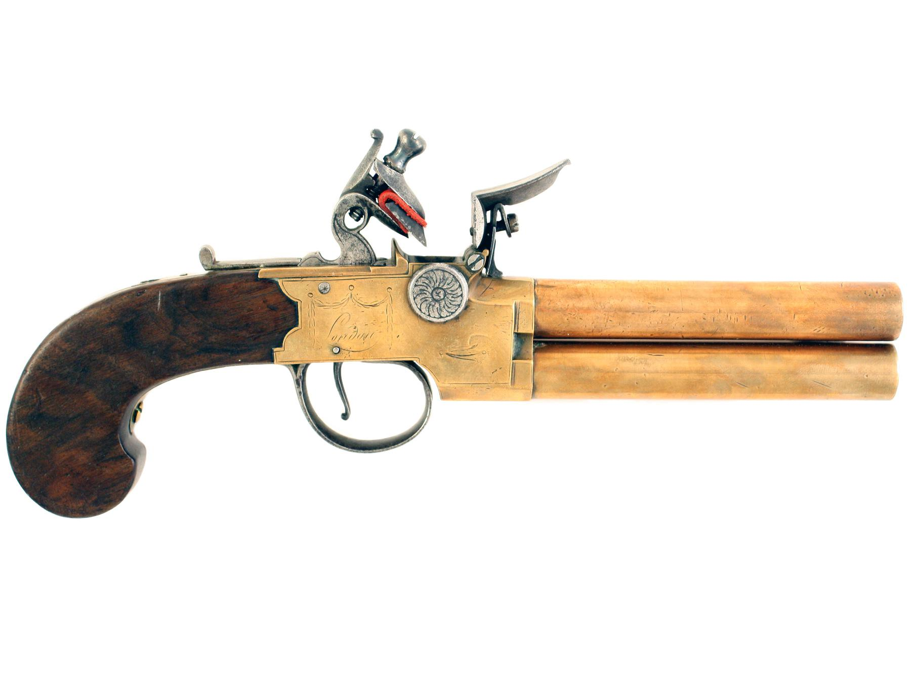 A Flintlock Tap-Action Pistol