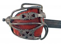 An Untouched Basket Hilted Sword