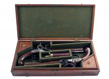 A Cased Pair of Flintlock Duelling Pistols