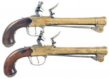 A Pair of Waters Blunderbuss Pistols