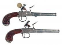 A Fine Pair of Flintlock Pistols, ex. Keith Neal