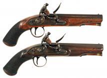 A Pair of Flintlock Overcoat Pistols by Twigg.