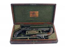 A Cased Pair of Percussion Pistols by D. Egg