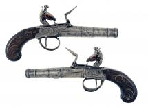 An Early Pair of Flintlock Pocket Pistols by Richards