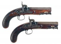 A Good Pair of Percussion Overcoat Pistols.